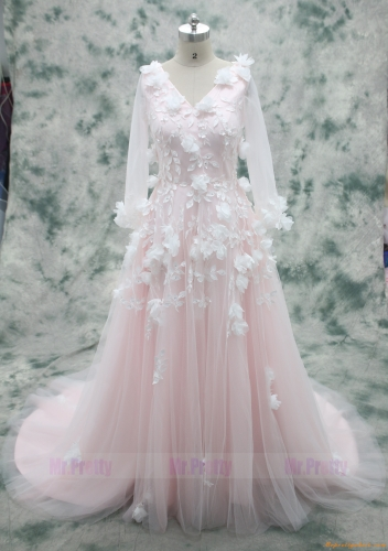 Blush Handmade Wedding Dress Bridal Dress