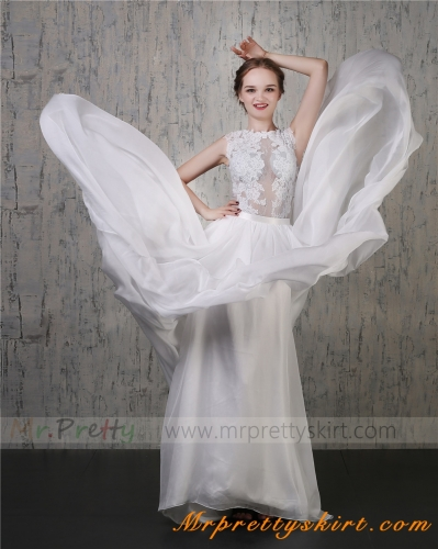 Ivory Chiffon Skirt Bridal Skirt Wedding Skirt